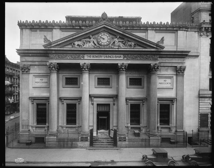 Bowery and Grand Street. Bowery Savings Bank, 1927