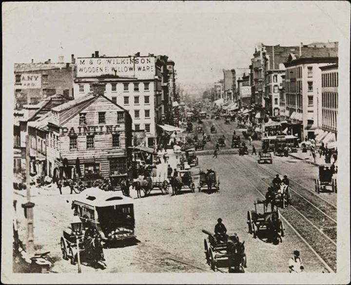 Canal and Walker Streets, 1870