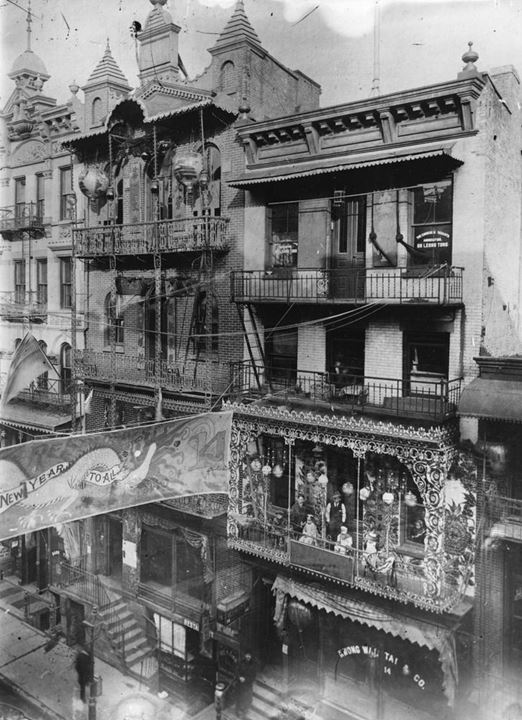 New Year celebrations in Chinatown in New York City, 1909
