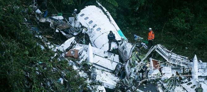 巴西足球隊(查比高恩斯足球隊Chapecoense Real)遇空難最後身影曝光