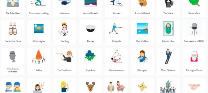 芬蘭自制獨特嘅 Emoji, 超過60個免費下載
