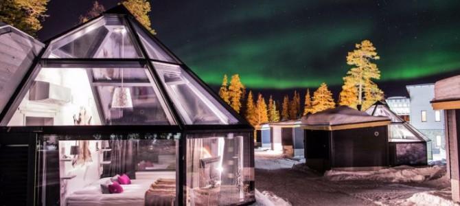 最近聖誕老人村的玻璃屋酒店Santa's Arctic Circle