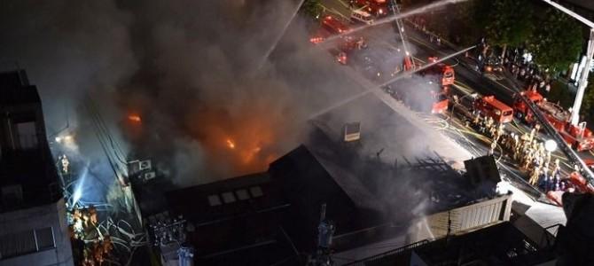 築地場外市場發生火警, 在日本的朋友要小心